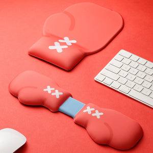 Red Boxing Glove Design Hand Wrist Rest Pad - TheKeyCaps - KeyCap