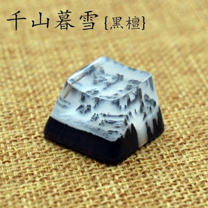 Sealed With A Kiss Resin Wooden Key Cap - TheKeyCaps - KeyCap