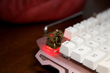 Load image into Gallery viewer, Gold Dragon Head Keycap - TheKeyCaps - KeyCap
