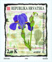 #192-193 Croatia - Flowers (MNH)