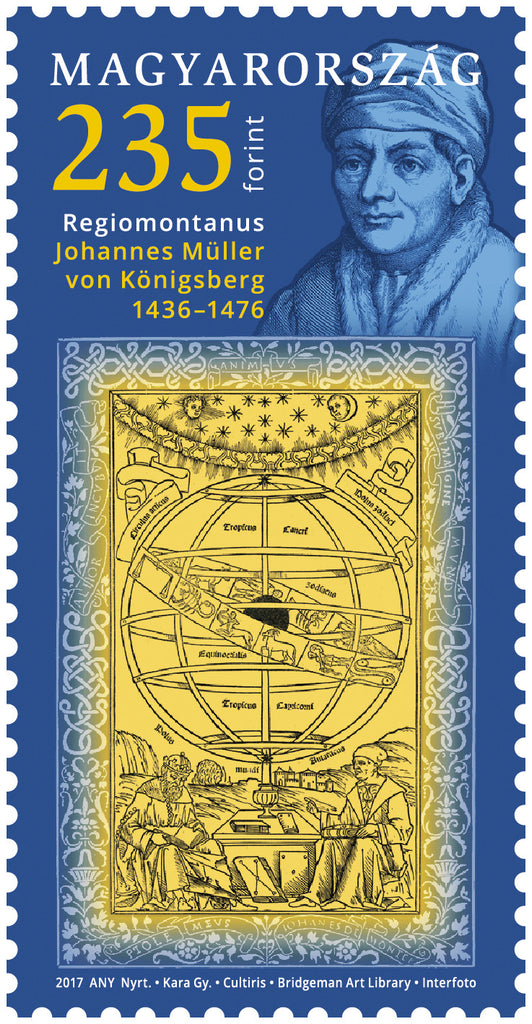 #4414 Hungary - 550th Anniv. of Regiomontanus (MNH)