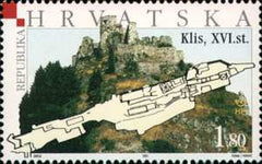 #499-501 Croatia - Fortresses Type of 2001, Set of 3 (MNH)