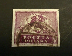 #92 Poland - Polish Cavalryman, Imperf (Used)