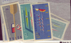 #1006-1008 Poland - 6th European Canoe Championships, perf (MNH)