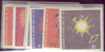 #1343-1345, 1343a-1345a Poland - International Quiet Sun Year (MNH)