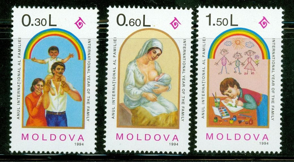 #144-146 Moldova - International Year of the Family (MNH)