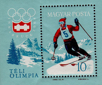 #1555 Hungary - 9th Winter Olympic Games S/S (MNH)
