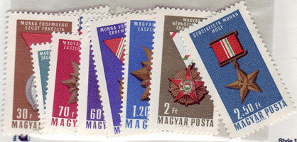 #1754-1762 Hungary - Decorations in Original Colors (MNH)