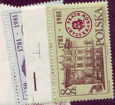 #2488-2491 Poland - Old Theater, Cracow, 200th Anniv. (MNH)
