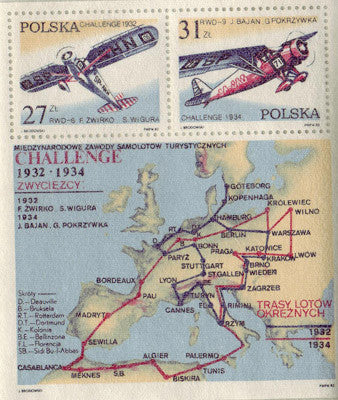 #2516a Poland - Challenge Trophy Flights S/S (MNH)