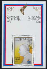 #254 Slovenia - Visit of Pope John Paul II S/S (MNH)