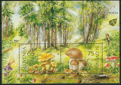 #258 Slovenia - Mushrooms S/S (MNH)