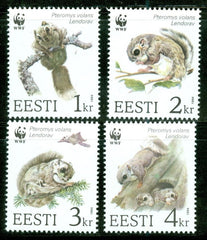 #270-273 Estonia - World Wildlife Fund: Flying Squirrel, Set of 4 (MNH)