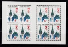 #2885 Czech Republic - Clock Tower and Church, Brno M/S (MNH)