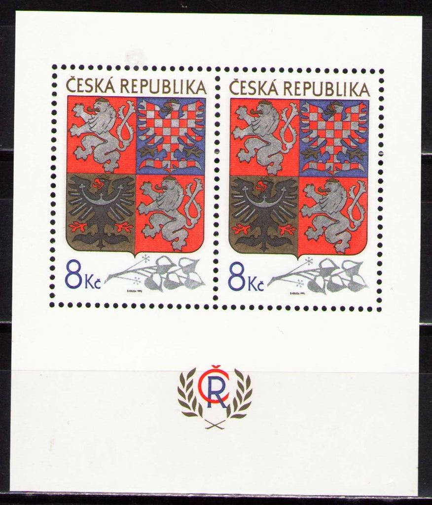#2887 Czech Republic - State Arms S/S (MNH)