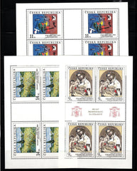 #2908-2910 Czech Republic - Painting Type of 1967, 3 M/S (MNH)
