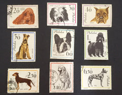 #1115-1123 Poland - Dogs, Set of 9 (Used)