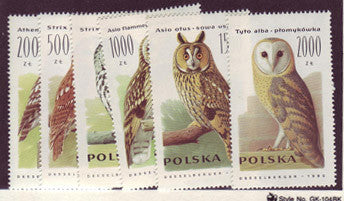 #2995-3000 Poland - Owls (MNH)