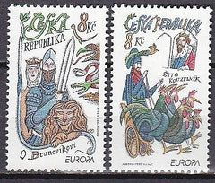 #3013-3014 Czech Republic - 1997 Europa: Stories and Legends (MNH)