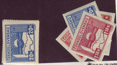 #311-314 Czechoslovakia - Clasped Hands (MLH)