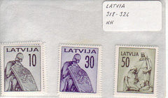 #318-326 Latvia - Monuments (MNH)