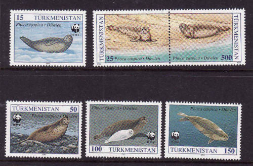 #34-38 Turkmenistan - World Wildlife Fund (MNH)