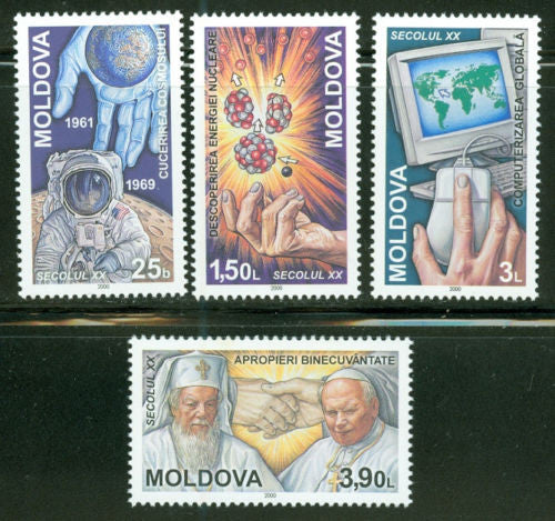 #349-352 Moldova - Events of the 20th Century (MNH)