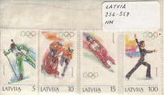 #356-359 Latvia - Winter Olympics (MNH)