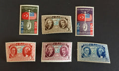 #817-822 Turkey - U.S. Constitution, 150th Anniversary (MNH)