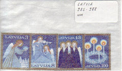 #385-388 Latvia - Christmas (MNH)