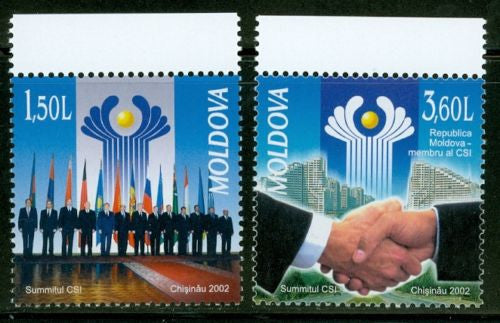 #430-431 Moldova - Commonwealth Independent State Summit (MNH)