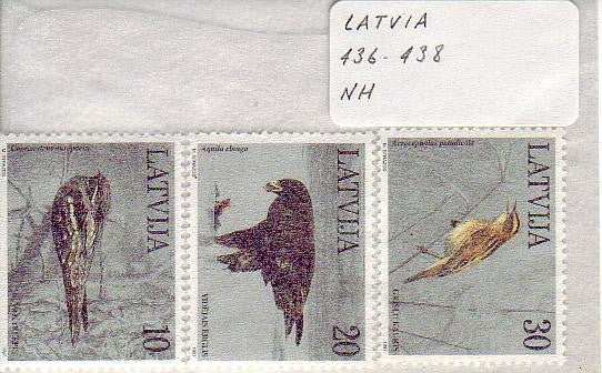 #436-438 Latvia - Birds (MNH)