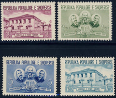#505-508 Albania - Opening of the First Albanian School (MNH)