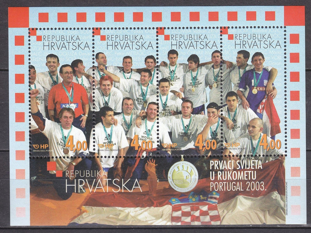 #514 Croatia - 2003 World Handball Champions S/S (MNH)