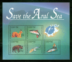 #52 Turkmenistan - Save the Aral Sea M/S (MNH)