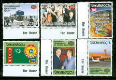 #53-58 Turkmenistan - Independence, 5th Anniv (MNH)