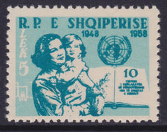 #552 Albania - Mother and Child, UN Emblem (MNH)