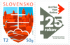 #767 Slovakia - Motif of the State, 25th Anniv. of Art Film Fest (MNH)