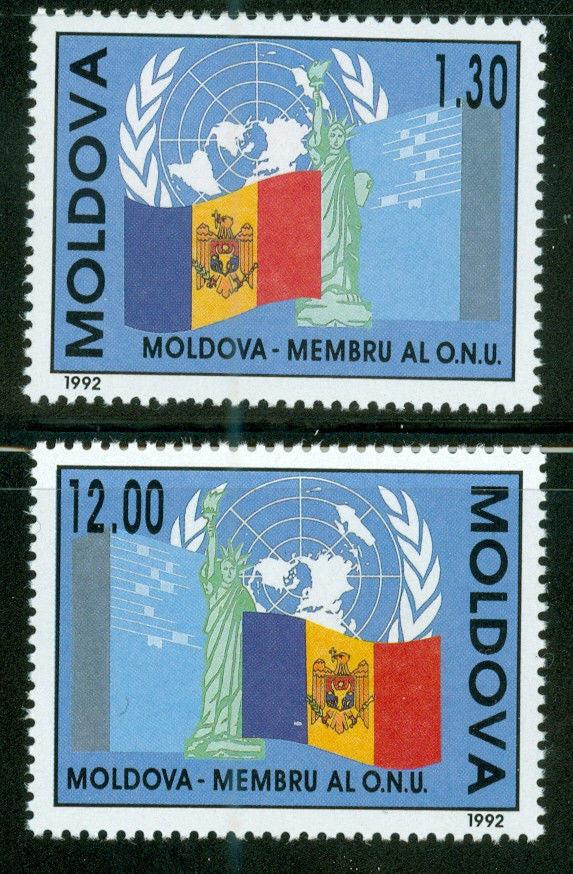#61-62 Moldova - Admission to UN (MNH)