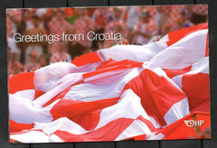 #619 Croatia - Flag and Crowd, Complete Booklet (MNH)
