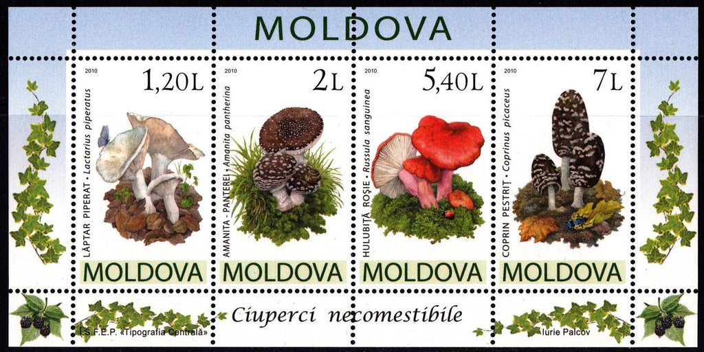 #668a Moldova - Mushrooms S/S (MNH)