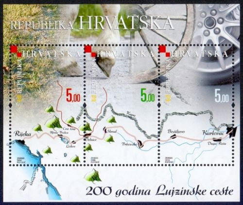 #693 Croatia - Lujzinske Road, 200th Anniv S/S (MNH)