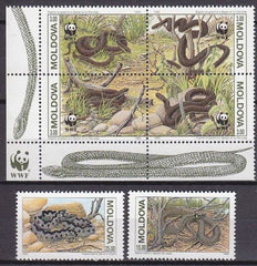 #72-74 Moldova - World Wildlife Fund (WWF): Elaphe Longissima (MNH)