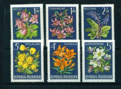 #764-769 Austria - Flowers in Natural Colors, Alpine Flowers (MNH)