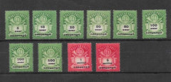 #775-784 Hungary - Denomination in Black (MNH)