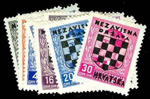 #9-23 Croatia - Yugoslavia Overprints in Black (MLH)