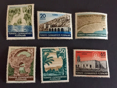 1186-1191 Turkey - Waterfall, Antalya, Alanya and Seljukide Dockyards (MNH)