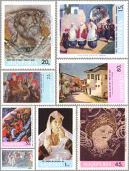 #1062-1069 Albania - Art, Set of 8 (MNH)