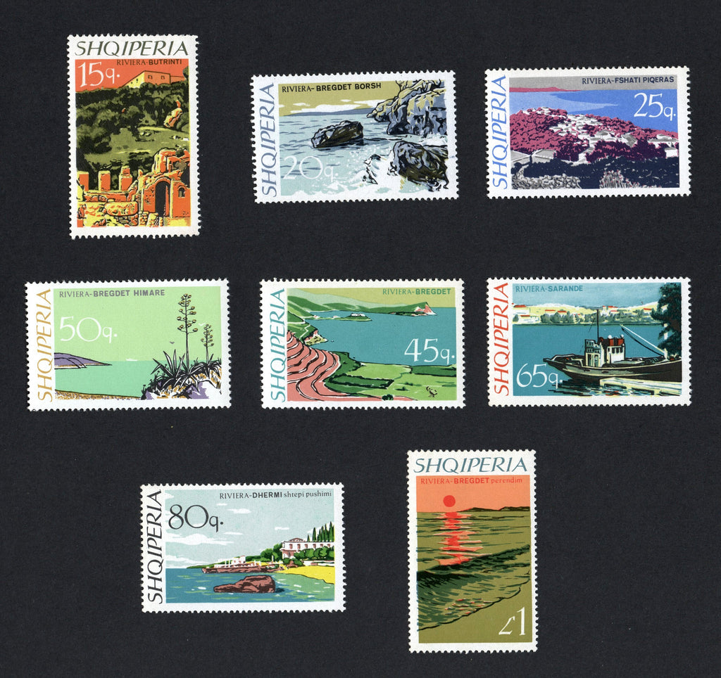 #1035-1042 Albania - Views, Set of 8 (MNH)