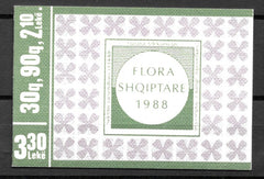 #2272a Albania - Flowers, Booklet (MNH)